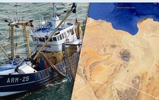 مراكب الصيد المحجوزة بليبيا